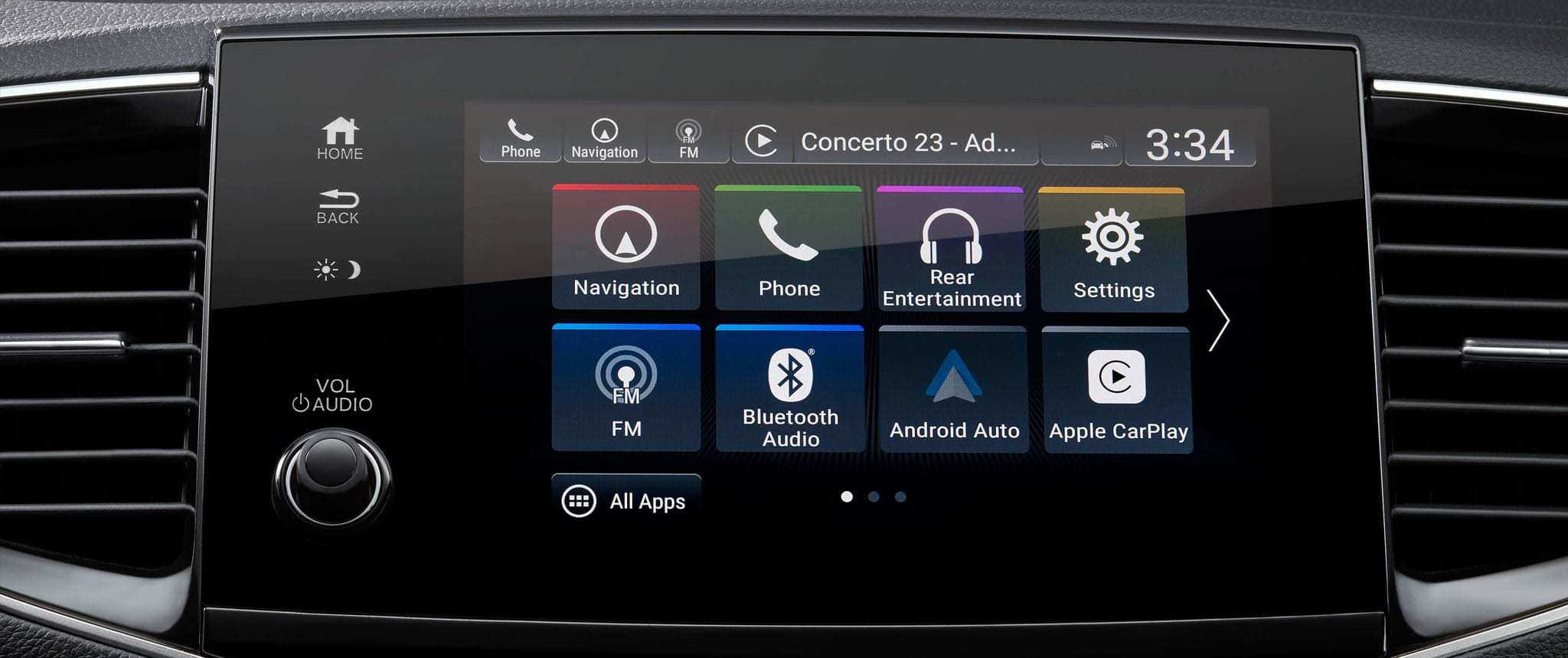 Apple CarPlay and Android Auto on the new Honda Pilot